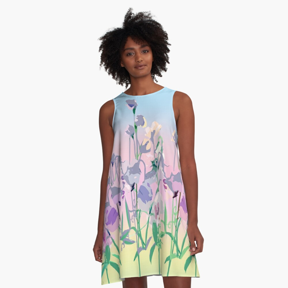 Summer Sweet-pea A-Line Dress Front
