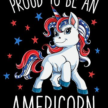 Americorn Unicorn 4th of July T shirt Mericorn Merica Kids Girls Women by LiqueGifts