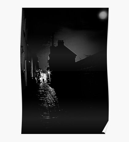 Cobbles by Moonlight Poster