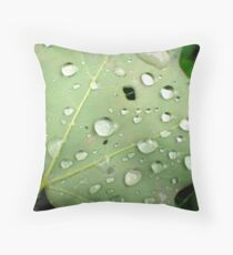 RAIN DROPS ON MAPLE Throw Pillow