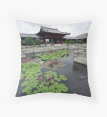 Chi Lin  Nunnery, Diamond Hill, Hong Kong. Throw Pillow