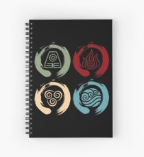 Avatar Inspired Zen Elemental Ensos (Square) Spiral Notebook