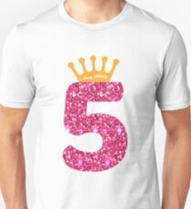 5th Queens Crow Happy Birthday Art For Girls Unisex T Shirt