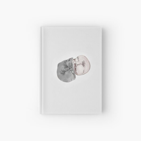 Yin Yang of two Sphynxes Hardcover Journal