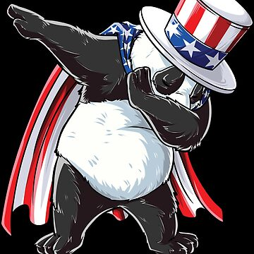 Dabbing Uncle Sam Panda T shirt 4th Of July Kids Boys Men USA by LiqueGifts