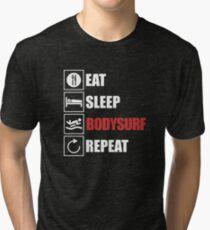 Bodyboard Surfing Tri-blend T-Shirt