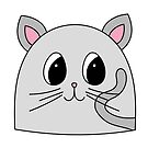Simple Cat Face by Pamela Maxwell