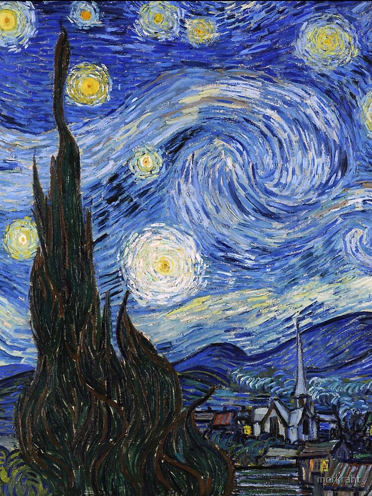 Starry Night Gifts - Vincent Van Gogh Classic Masterpiece Painting Gift Ideas for Art Lovers of Fine Classical Artwork from Artist by merkraht