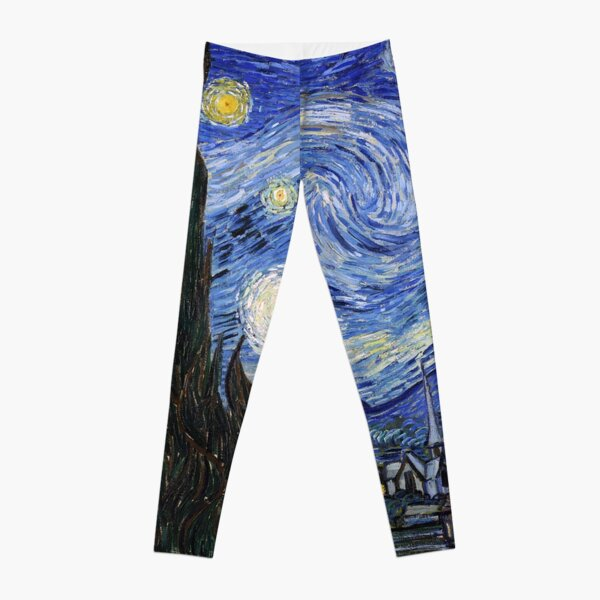 Starry Night Gifts - Vincent Van Gogh Classic Masterpiece Painting Gift Ideas for Art Lovers of Fine Classical Artwork from Artist Leggings