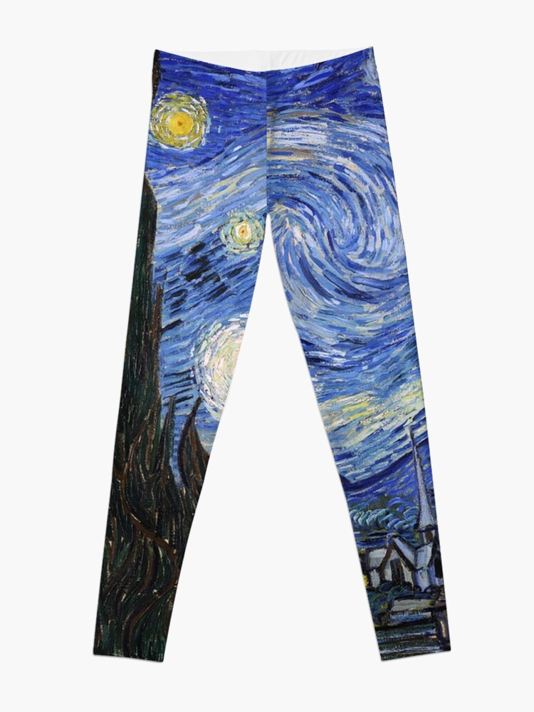 Alternate view of Starry Night Gifts - Vincent Van Gogh Classic Masterpiece Painting Gift Ideas for Art Lovers of Fine Classical Artwork from Artist Leggings