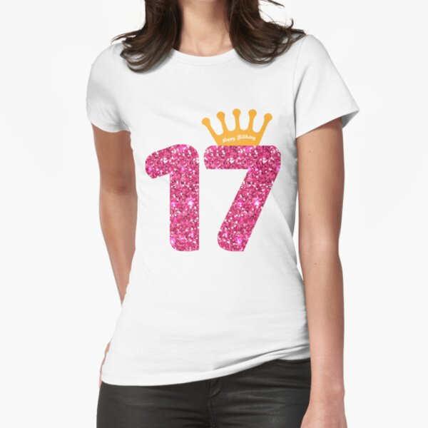17 ° cumpleaños de Queens Crow para niñas Camiseta entallada