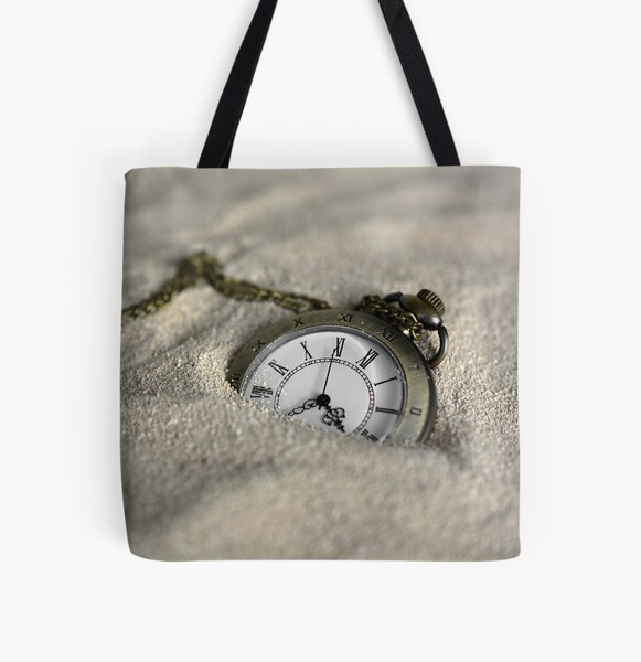 pocket watch in sand All Over Print Tote Bag