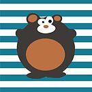 «Bear baby boy nursery decor» de happyyakk
