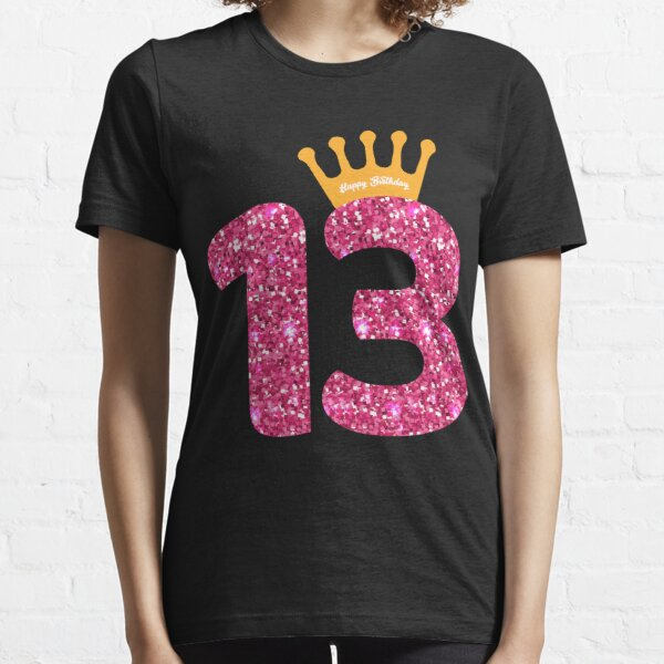 13th Queens Crow Happy Birthday for Girls Essential T-Shirt
