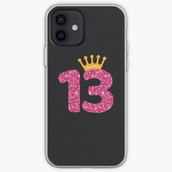 13th Queens Crow Happy Birthday for Girls iPhone Soft Case
