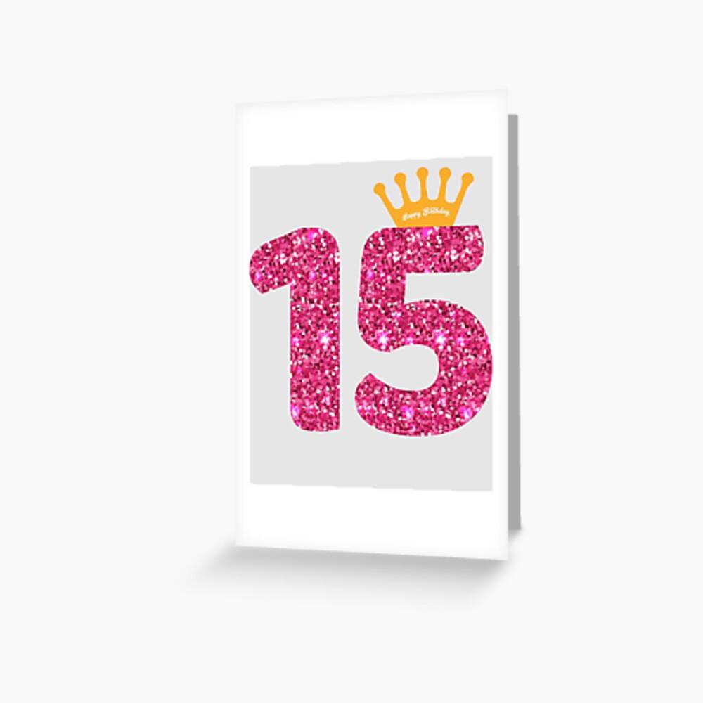 15. Queens Crow alles Gute zum Geburtstag für Mädchen Grußkarte