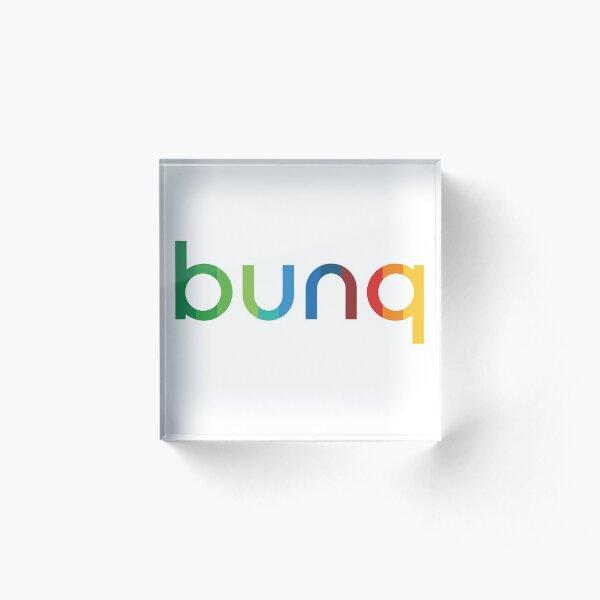 bunq Rainbow. Acrylic Block