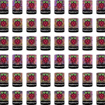 Raspberry Pi Case Sticker - 48 bulk set CPU Background by Heath3827