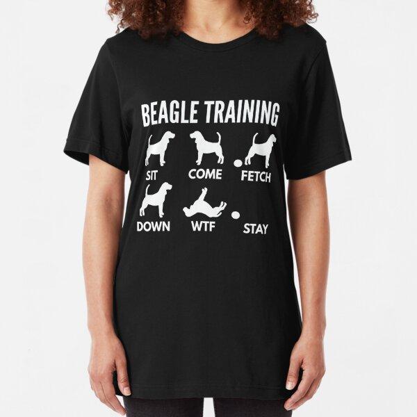 Beagle Training Beagle Tricks Slim Fit T-Shirt
