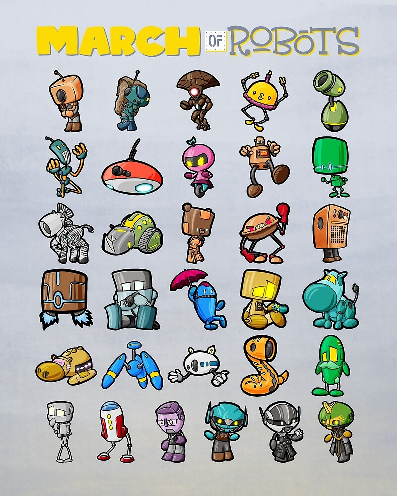 31 Little Bots by Mitch Bolton