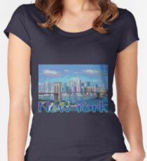 new york painting Women's Fitted Scoop T-Shirt