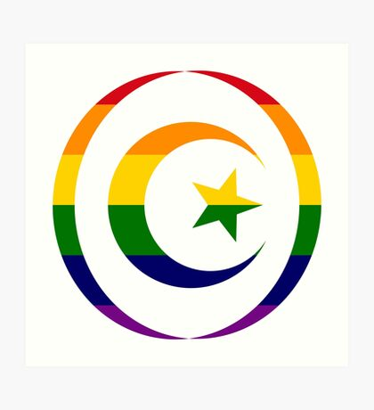 Muslim (Rainbow) Art Print