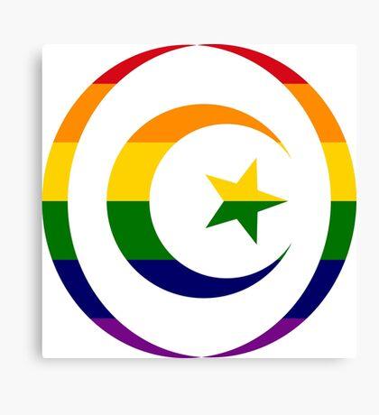 Muslim (Rainbow) Canvas Print