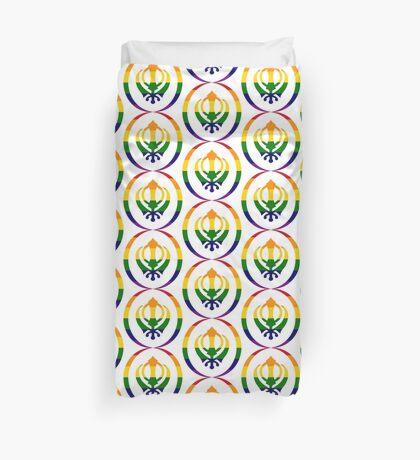 Sikh (Rainbow) Duvet Cover