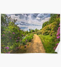 Scotney Castle Garden Path Poster