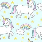 Seamless Unicorn Pattern by Pamela Maxwell
