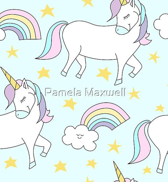 Seamless Unicorn Pattern by Pamela Maxwell