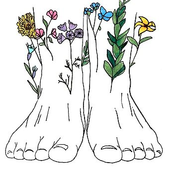 feet with flowers by art-ic-monkeys