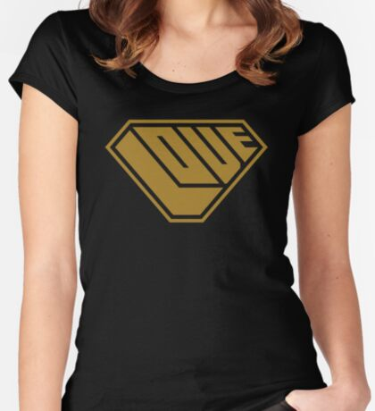Love SuperEmpowered (Gold) Fitted Scoop T-Shirt