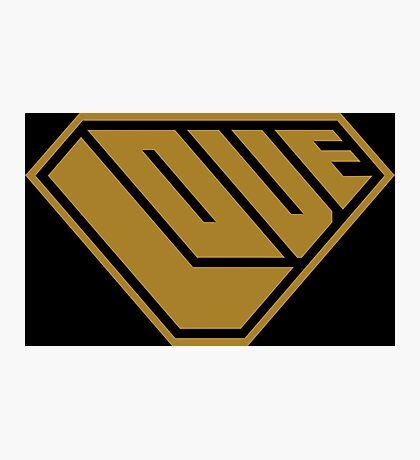 Love SuperEmpowered (Gold) Photographic Print
