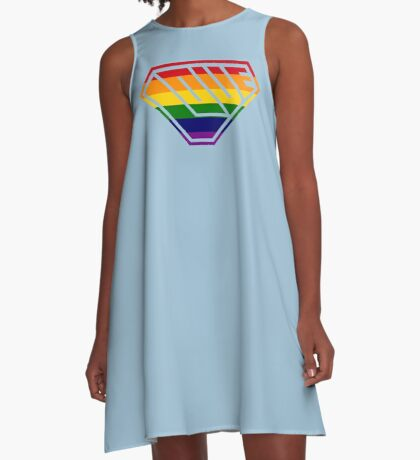 Love SuperEmpowered (Rainbow) A-Line Dress