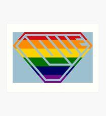 Love SuperEmpowered (Rainbow) Art Print