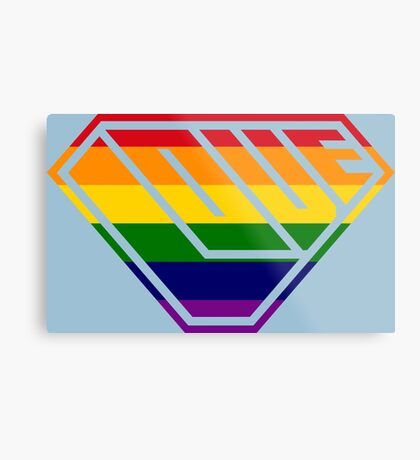 Love SuperEmpowered (Rainbow) Metal Print