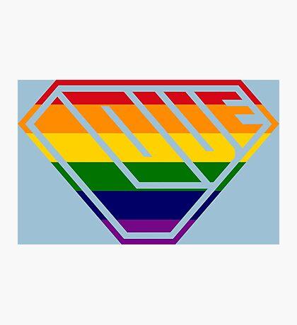 Love SuperEmpowered (Rainbow) Photographic Print