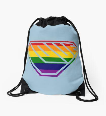 Love SuperEmpowered (Rainbow) Drawstring Bag