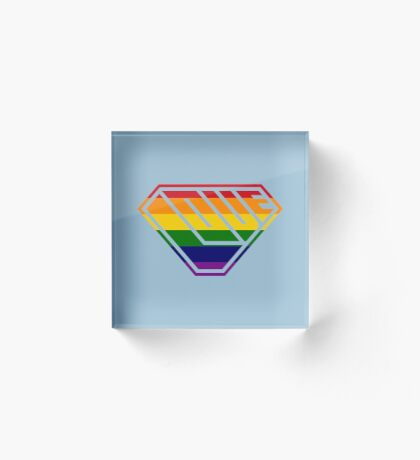 Love SuperEmpowered (Rainbow) Acrylic Block