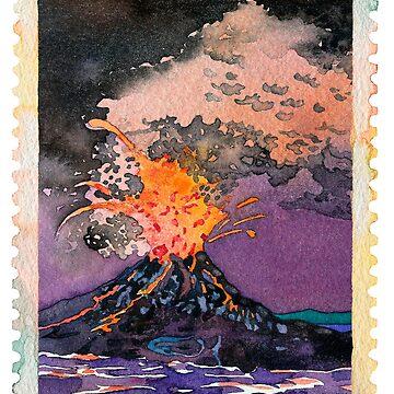 Fire volcano by Luisombra