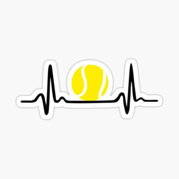 Teninis Heartbeat Sticker