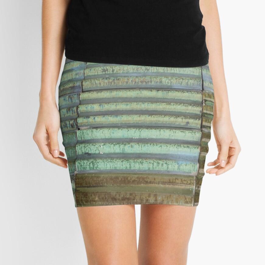 Barcelona Spain Tile  Mini Skirt