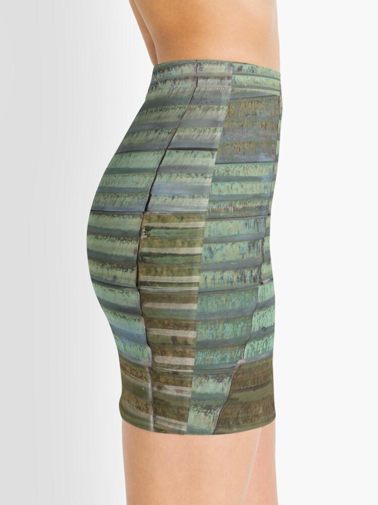 Alternate view of Barcelona Spain Tile  Mini Skirt