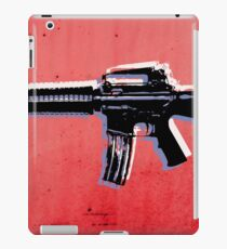 M16 Assault Rifle on Red iPad Case/Skin