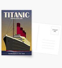 Titanic Ocean Liner Art Deco Print Postcards