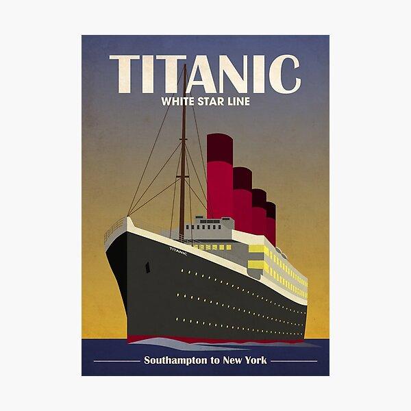 Titanic Ocean Liner Art Deco Print Photographic Print