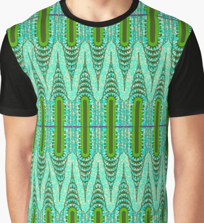 THE CHRYSLER BUILDING Green & Mint Graphic T-Shirt