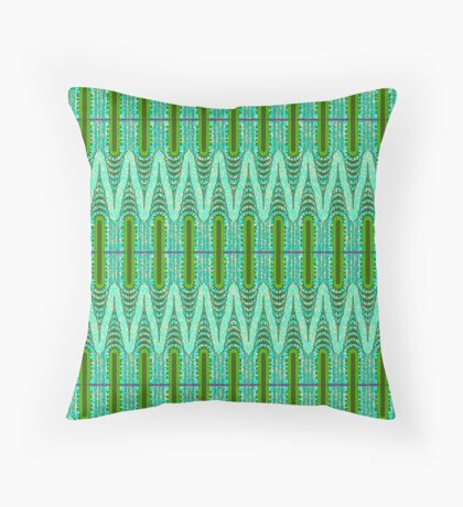 THE CHRYSLER BUILDING Green & Mint Throw Pillow