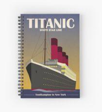 Titanic Ocean Liner Art Deco Print Spiral Notebook